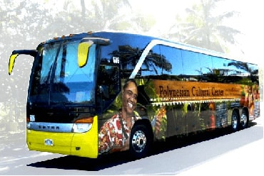 Polynsian Cultural Center Bus